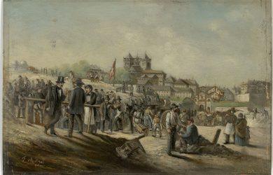 Genève, démolition des fortifications de Rive - ©  BGE, Centre d'iconographie genevoise, F. Métral
